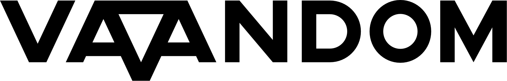 Vaandom logo in black